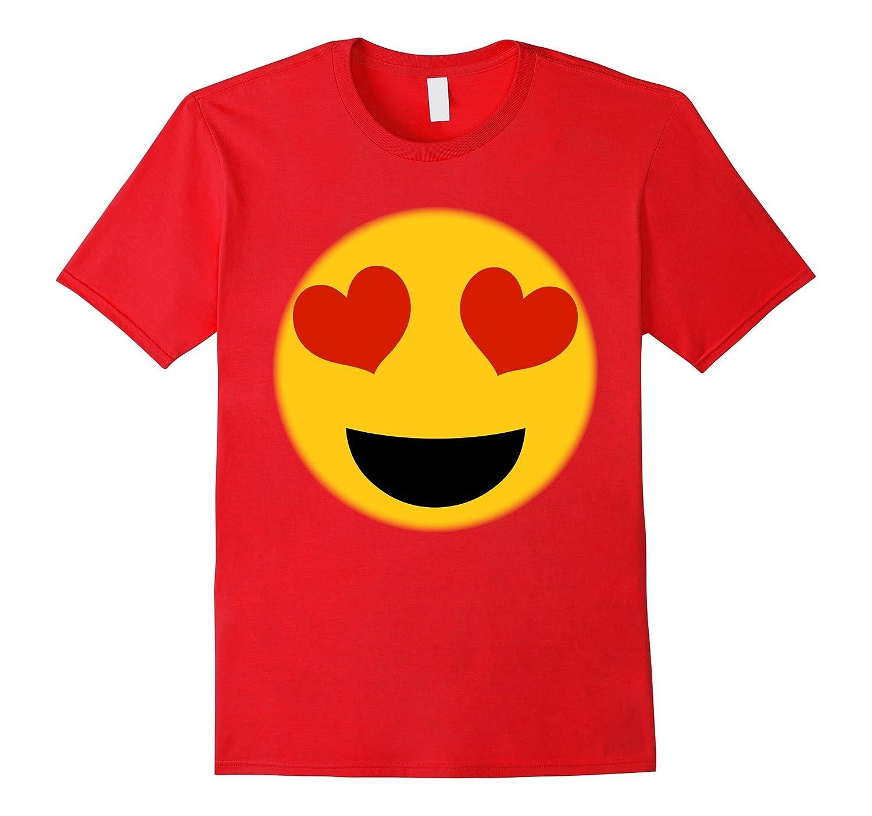 Emoji Shirt Heart Eyes Emoji Face Costume Cute Fun Shirt-CL