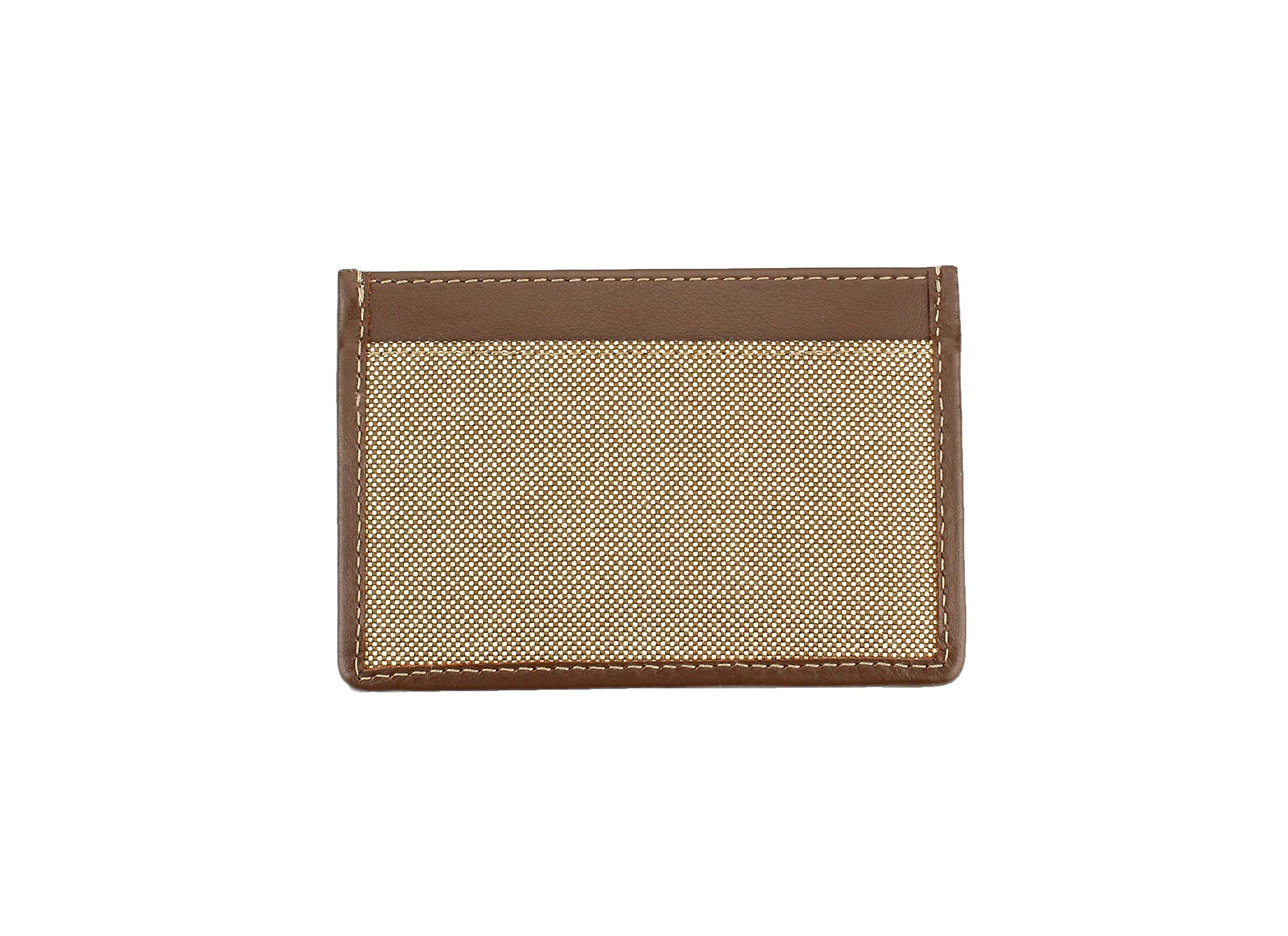 Prada Corda Canvas Logo Plaque Card Case Holder, Brown/beige by Prada (Image #2)