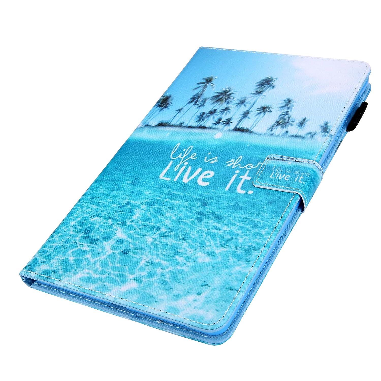 Papillon XTstore Coque Etui pour Samsung Galaxy Tab A 10.1 2019 SM-T510//T515 Folio Stand Multi Angles Etui Housse de Protection avec Pachette de Document pour Samsung Tab A 10.1 2019