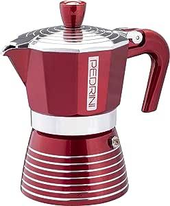 Pedrini Infinity Coffee Maker, Aluminium 6 tazze Passion