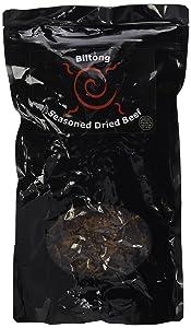 Braaitime Biltong - South African Seasoned Dried Beef Jerky Sliced - Original, 16oz