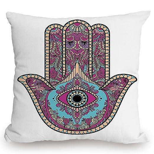 Funda de cojín con diseño étnico y mandala púrpura, diseño ...