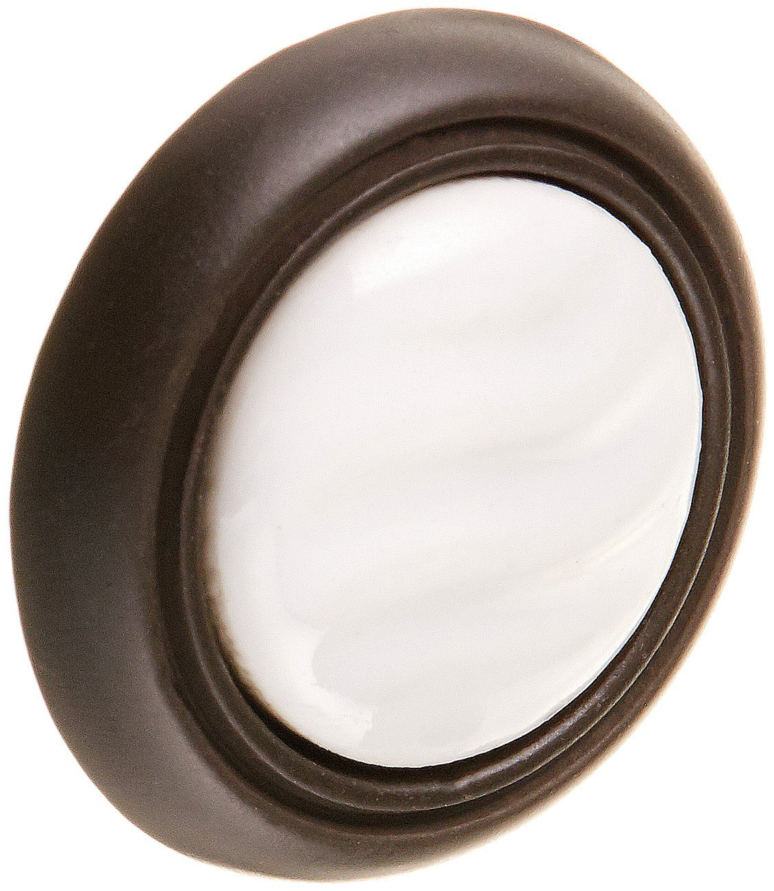 Laurey 15565 3-Inch First Family Pull Oil Rubbed Bronze with White Porcelain Insert