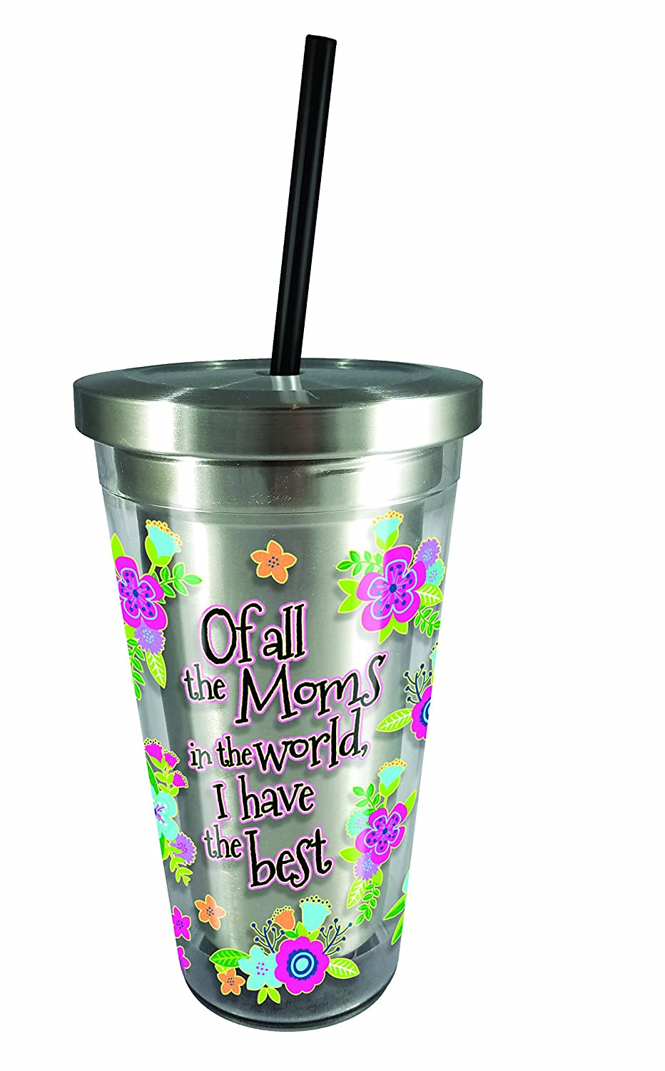 6814e70ddd2 Spoontiques 20529 Unicorn Stainless Steel Cup Straw, Multicolor
