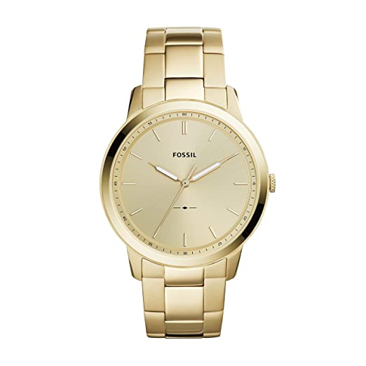 Fossil Men's The The Minimalist 3H Quartz Stainless-Steel-Plated Strap, Gold, 22 Casual Watch (Model: FS5462) best minimalist watches for men