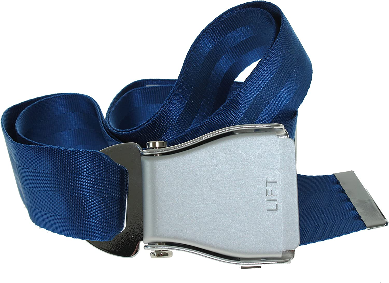 Airline Seat cinturón azul/plata - avión cinturón de Flying-belt