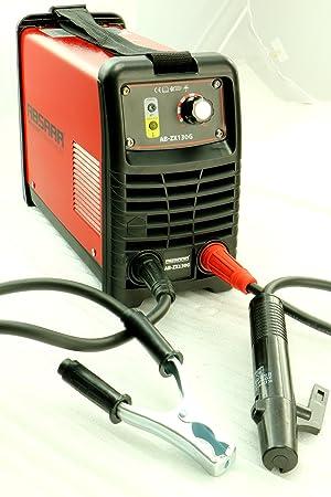 Absaar a Partir de zx130g electrodos Soldador Inverter 130 amperios, Rojo: Amazon.es: Coche y moto