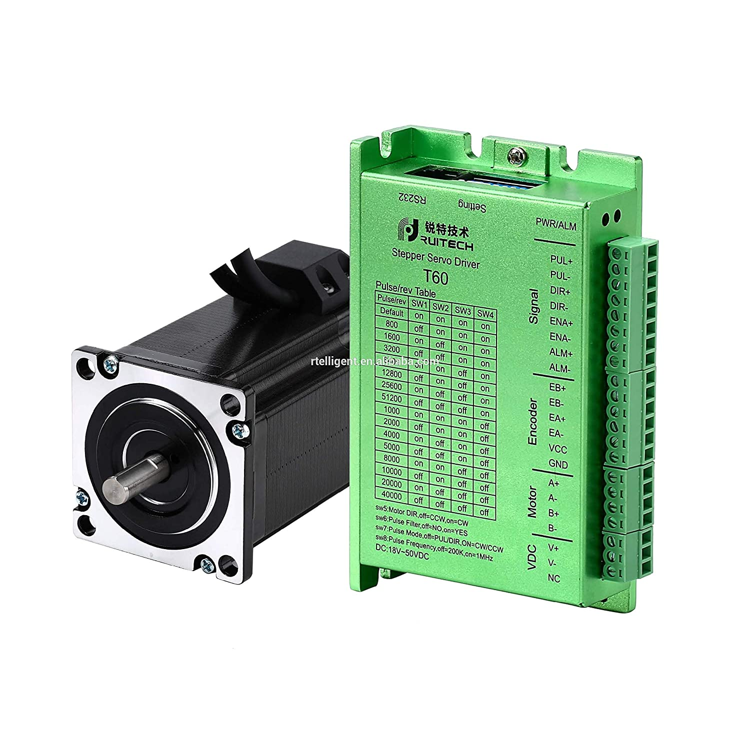 97mm with Encoder 283.4oz.in RTELLIGENT Nema 23 Stepper Closed Loop Servo Motor and Driver Kit 2 Phase 2.0NM 57 4.0A 57