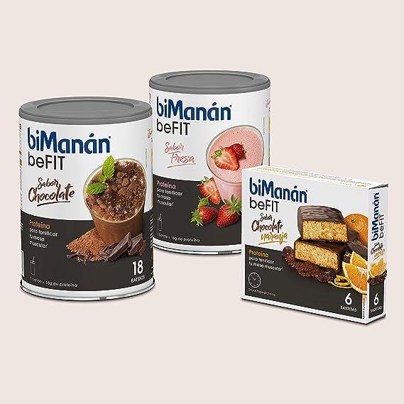 BiManán beFIT - Batido de Proteína Sabor Chocolate, para Tonificar tu Masa Muscular - 540g, 18 Raciones de 30g