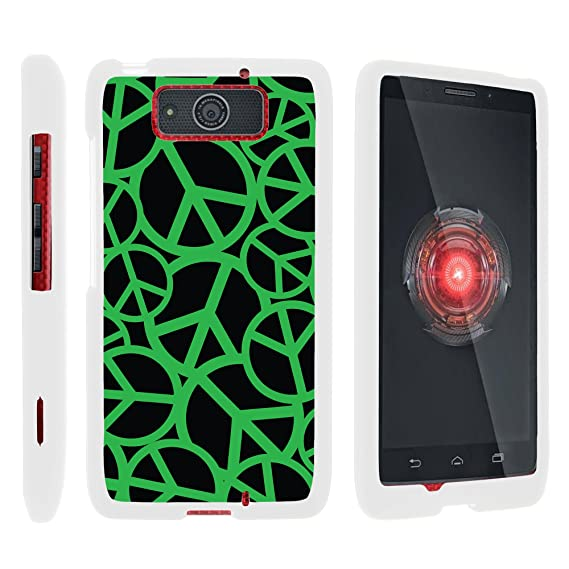 new styles afc4c 7a8ba MINITURTLE Case Compatible w/Droid MAXX Phone Case, Cell Phone Case Hard  Cover w/Cute Design Patterns for Motorola Droid MAXX XT1080 Green Peace