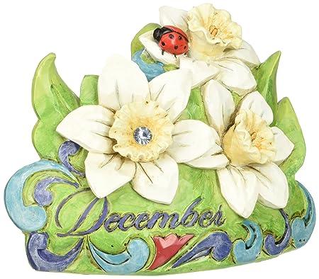 Department 56 Jim Shore Heartwood Creek December Narcissus-Blue Topaz Figurine, 3