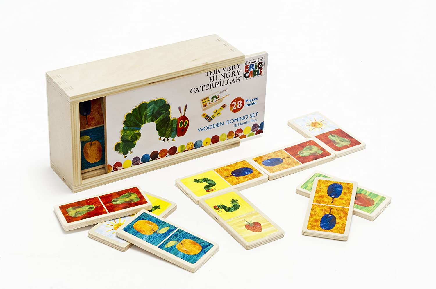 Rainbow Designs Eric Carle HC0934 Very Hungry Caterpillar Wooden Dominoes