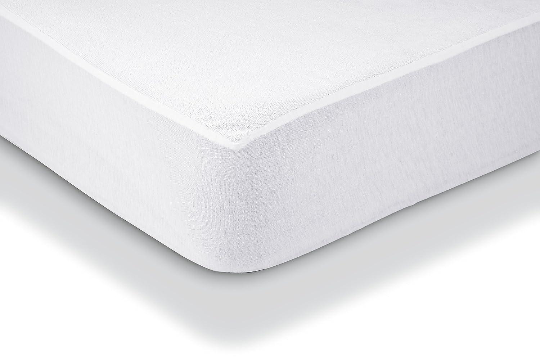 AmazonBasics - Protector de colchón de felpa impermeable 90 x 190 cm: Amazon.es: Hogar
