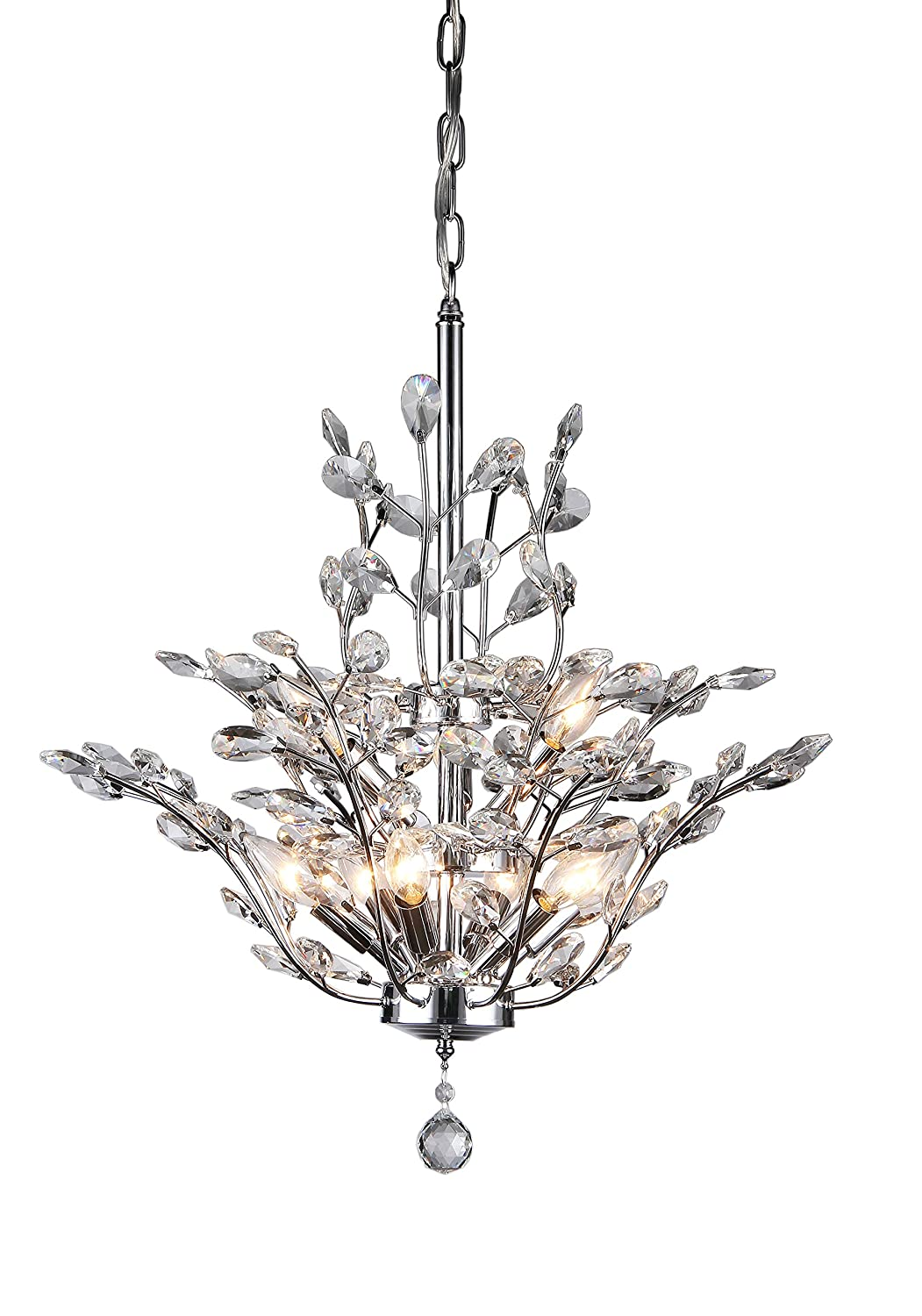 Whse Of Tiffany RLB Anastasia Leaf Chandelier Amazoncom - Chandelier leaves crystals
