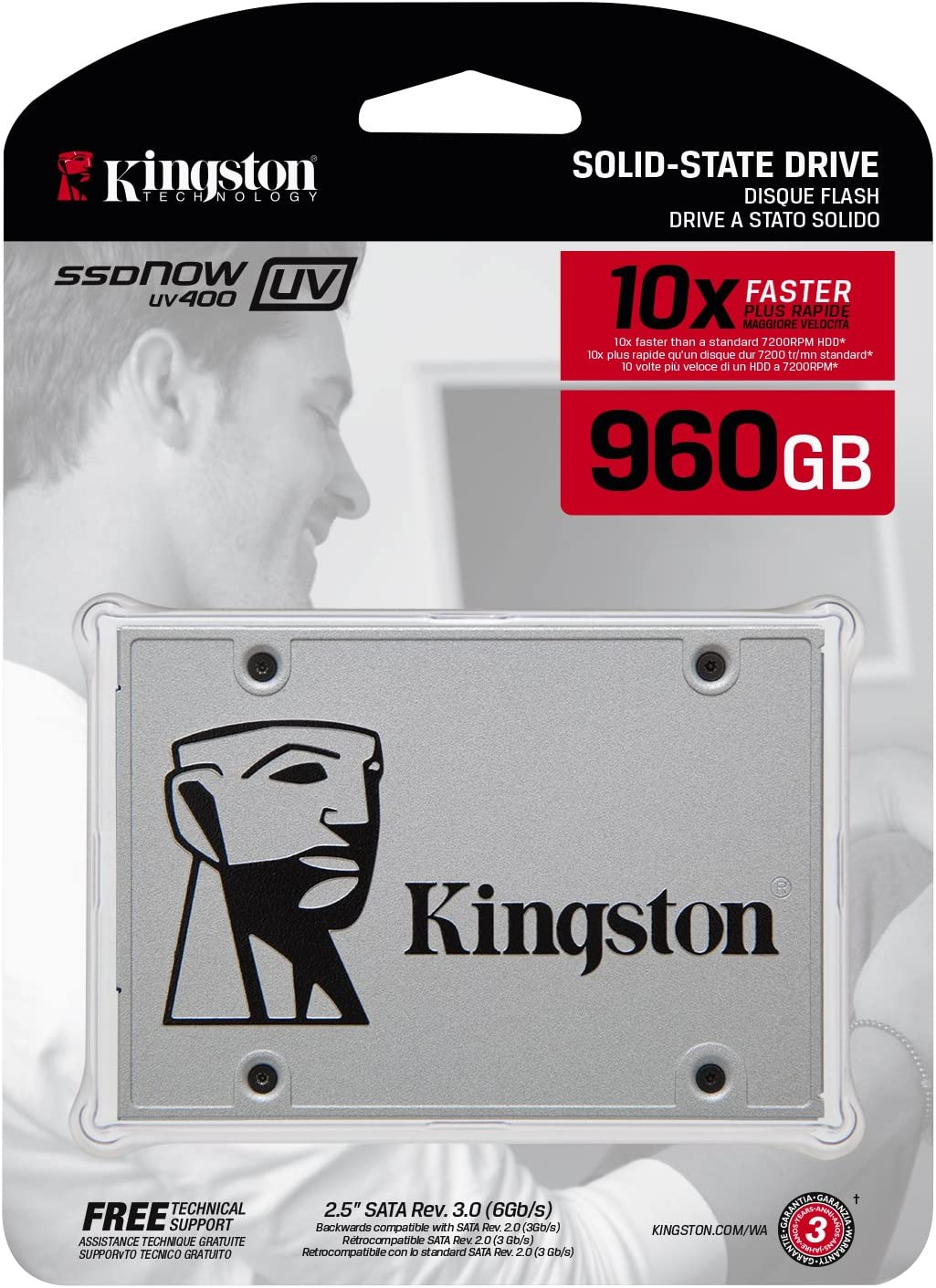 Kingston SSDNow UV400 - Disco Duro sólido de 960 GB (2.5
