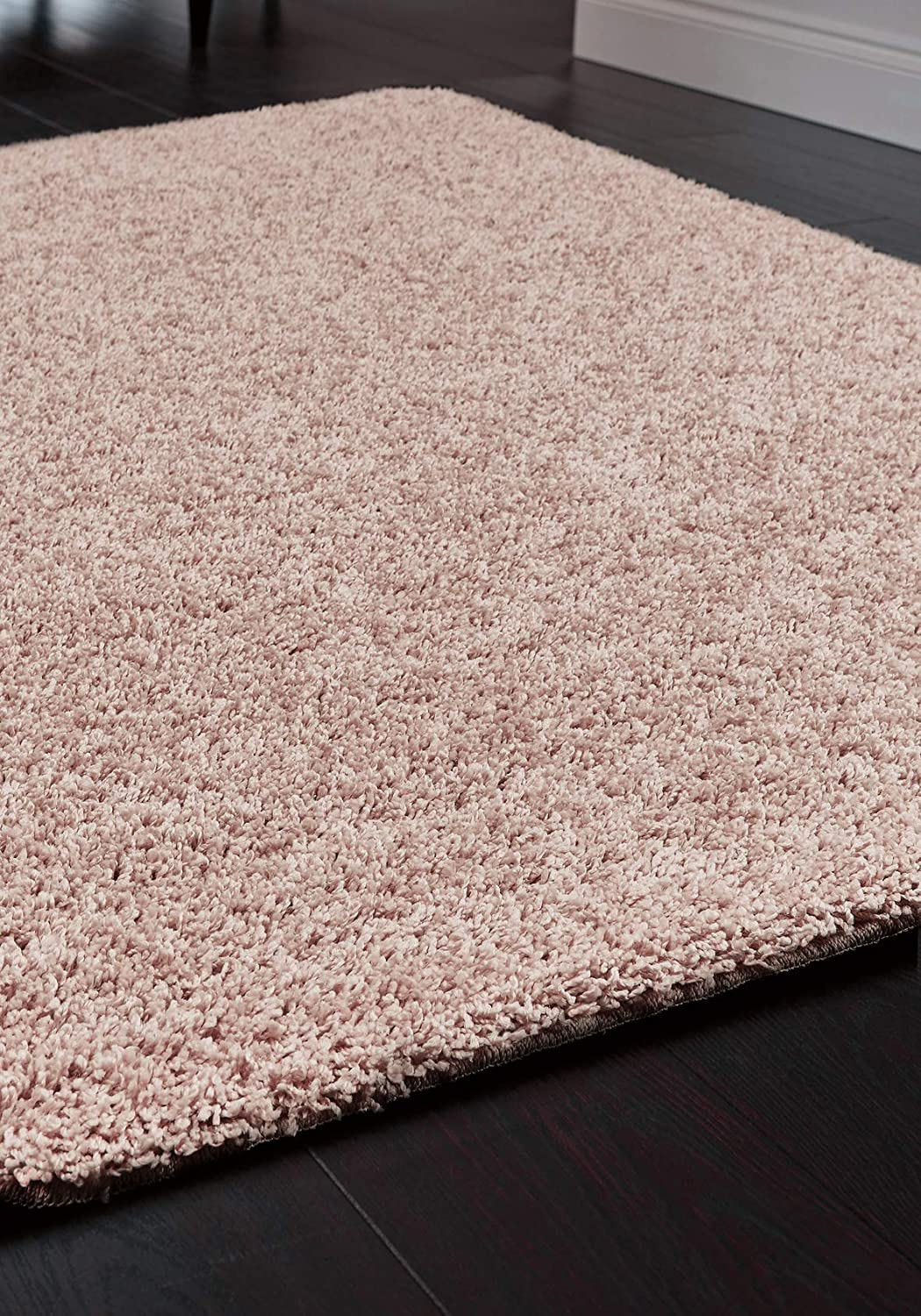 Buddy Washable Rug Shaggy Quick Dry Easy Care Rug 60x 100cm Pink More Sizes