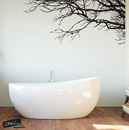 Delightful Large Tree Wall Decal Sticker   Semi Gloss Black Tree Branches, 44in X 100in