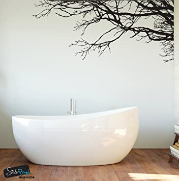 Large Tree Wall Decal Sticker   Semi Gloss Black Tree Branches, 44in X 100in Part 52