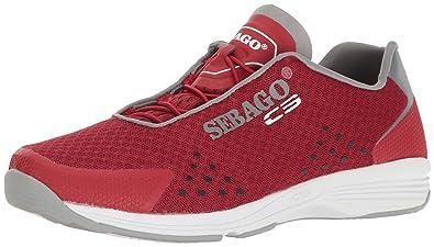 Sebago Cyphon Sea Sport, Chaussures Bateau pour Femme - Rouge - Rouge/Gris,