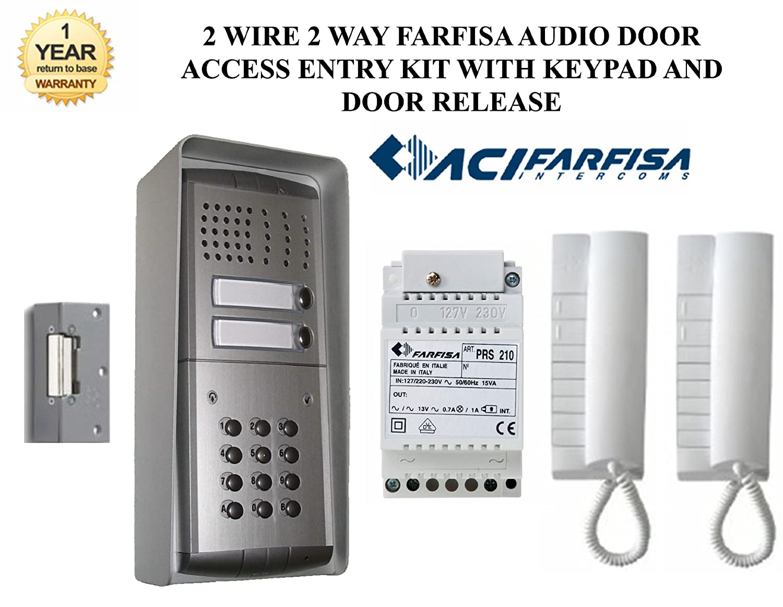 Z8t 2 Wire 2 Way Surface Mounted Farfisa Audio Door Amazon