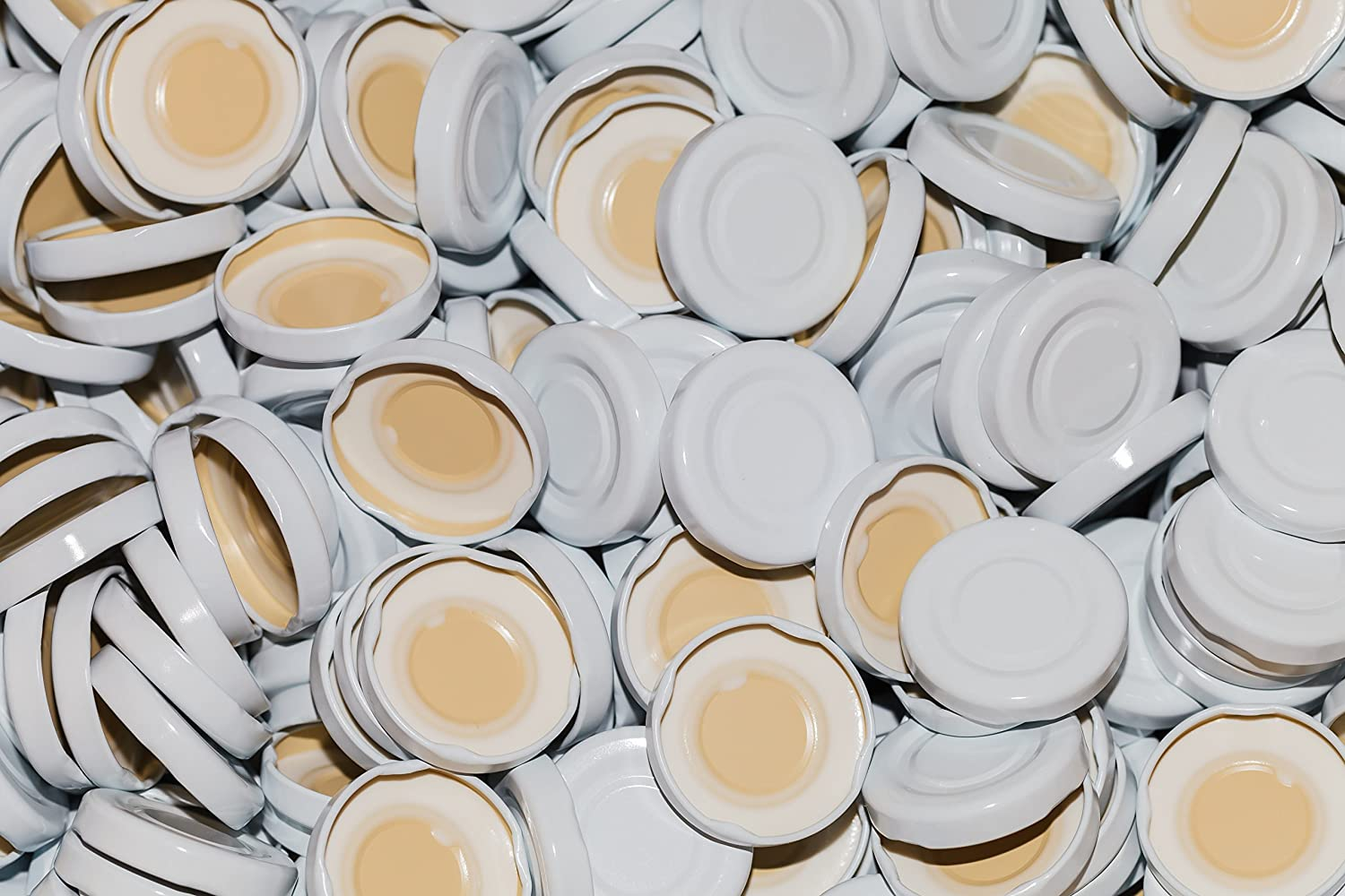 15, 25, 50 or 75 piece White Twist-Off Lids TO43 mm for our 0.2 & 0.25L Bottle Milk Bottle Lid cap cover (15 piece) SLK GmbH