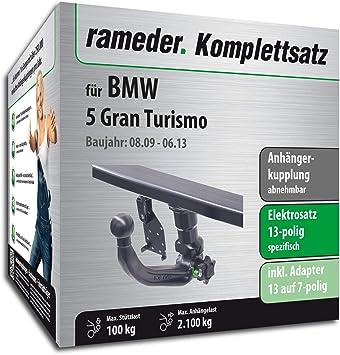 rameder Juego completo, remolque extraíble + 13POL Elektrik para BMW 5 GRAN TURISMO (119514