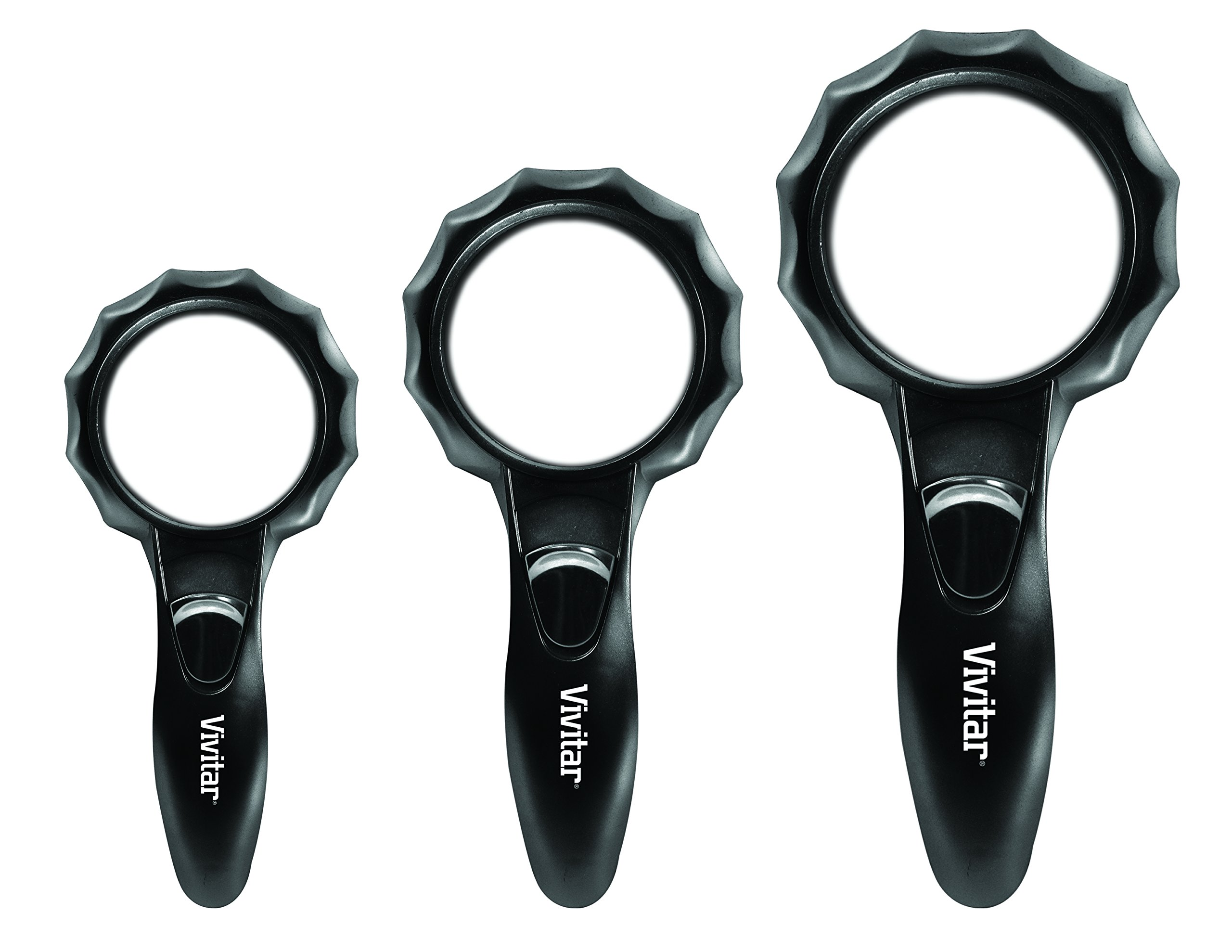 Vivitar Optics LED Magnifying Glasses 3-Pack, Viv-Mag-3
