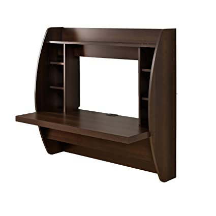 amazon com prepac wall mounted floating desk with storage in rh amazon com wall mounted floating desk plans wall mounted floating desks for small spaces