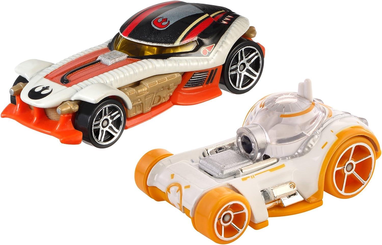 Mattel Hot Wheels DJM02 vehículo de Juguete - Vehículos de Juguete (Multicolor, Vehicle Set, Star Wars, BB-8 & PoE Dameron, 3 año(s), China)