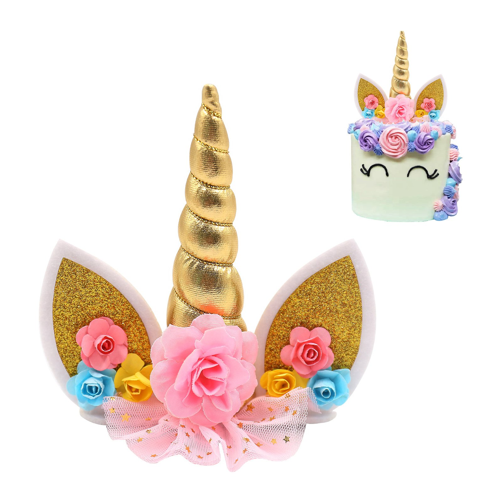 Unicorn Cake Topper And Unicorn Cupcake Toppers Wrappers ...
