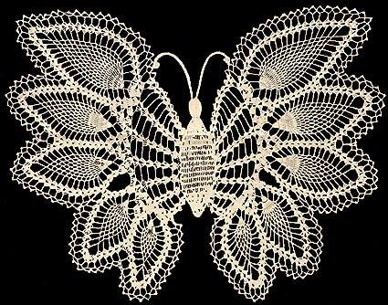 Amazon.com: Vintage Crochet PATTERN to make - Pineapple Butterfly ...