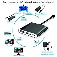 Adaptador HDMI USB C Nintendo Switch Dock Portátil, USB C a HDMI Hub Adapter con Type C Charging Port, HDMI Output, 1 USB 3.0 Port para Nintendo Switch, MacBook Pro Google Notebook y Samsung S8