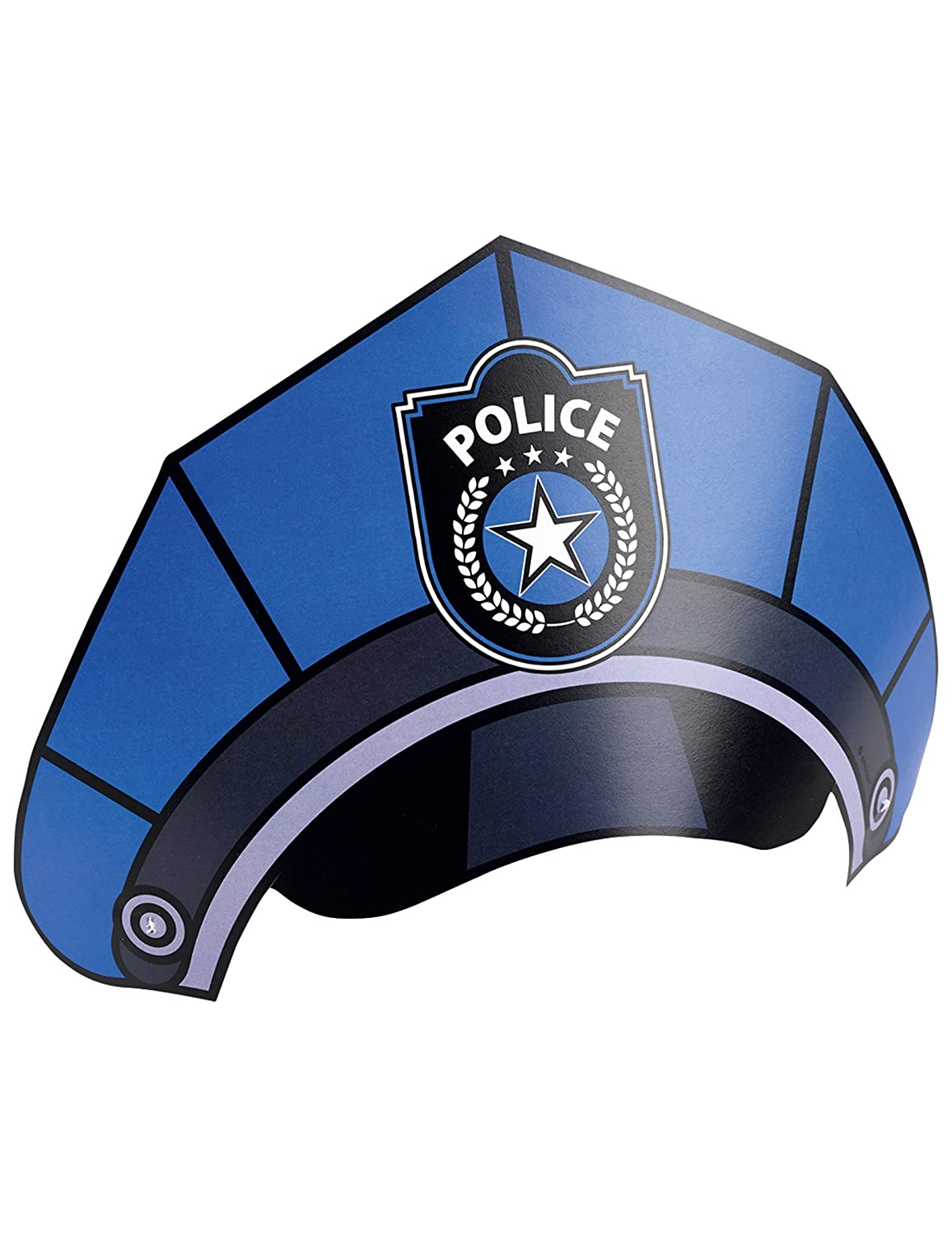 Amscan 998290 8 Cone Hats Police