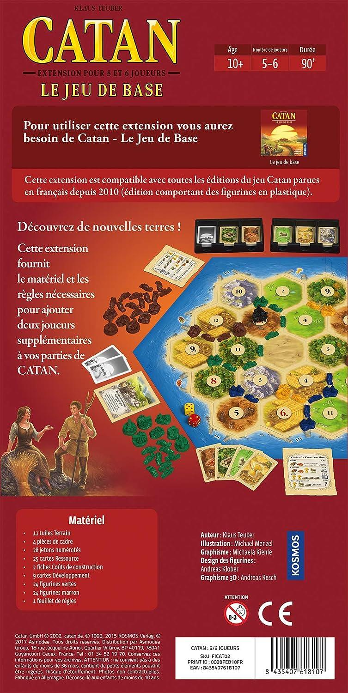 Zman Games FICAT02 - Catan Le Juego de Base para 5/6 Jugadores (extensión): Amazon.es: Juguetes y juegos