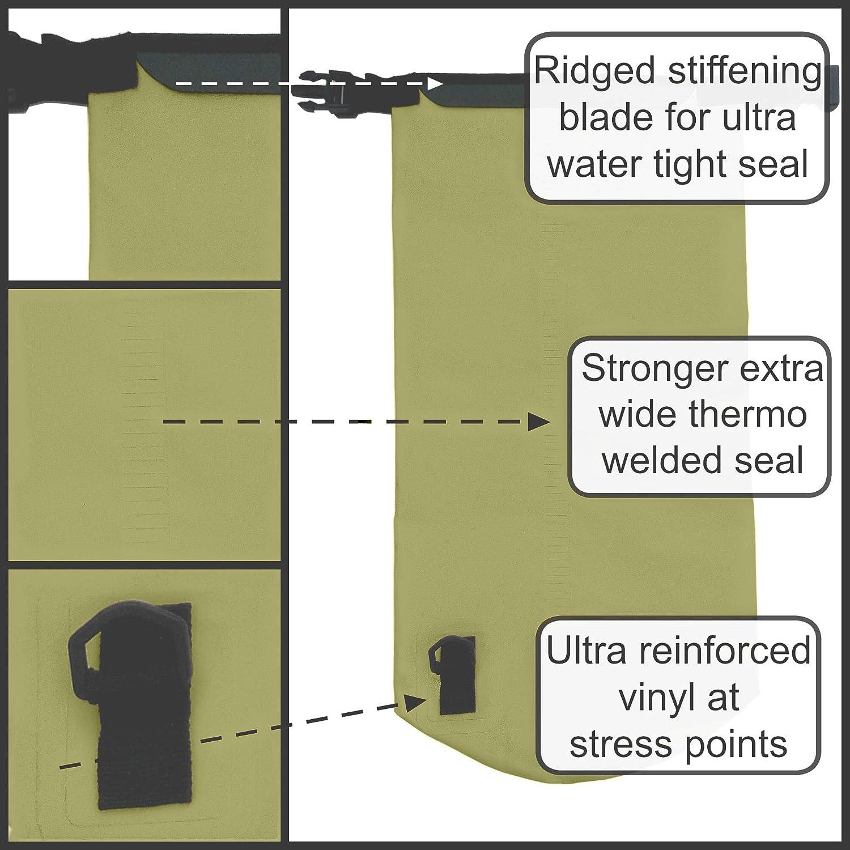 Ultra Ever Dry Bolsa estanca de alta resistencia al agua correa de hombro incluida con bolsa para el tel/éfono y largo ajustable perfecto para kayak//vela//canoa//pesca//rafting//nataci/ón//acampada//snowboard