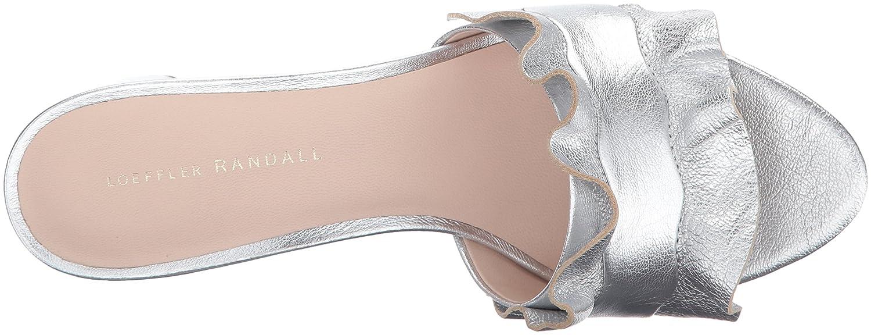 09bcecbb948 Amazon.com  Loeffler Randall Women s Vera Ruffle Slide Sandal (Metallic  Leather) Heeled  Shoes