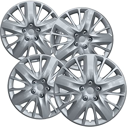 Amazon.com: OxGord Hubcaps for 14-15 Chevrolet Impala (Pack of 4) Wheel Covers- 18 Inch, Silver: Automotive