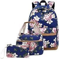 JANSBEN Mochilas Escolares 3 en 1 con Bolsa para Almuerzo y Bolsito para El Pen Niña Niño Mujer Mochila Portátil con USB…