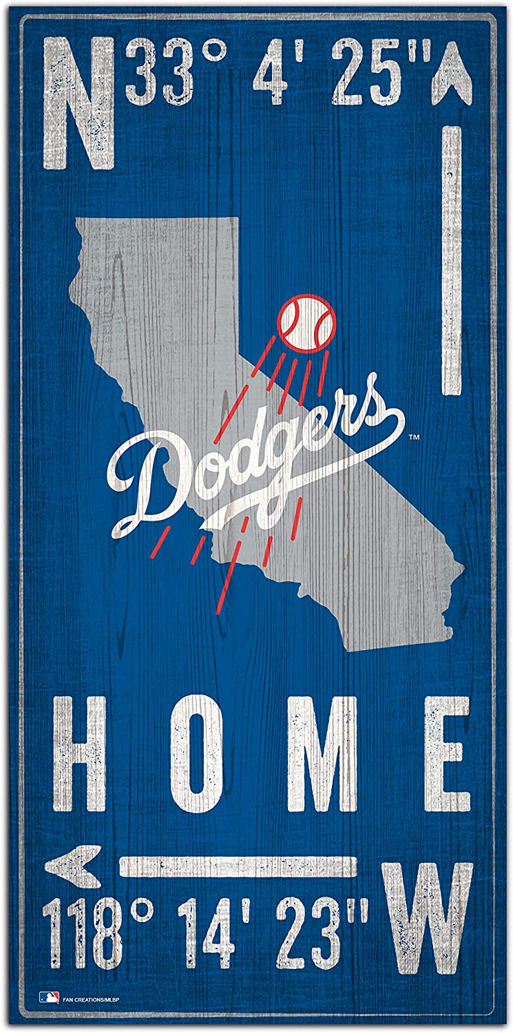 Fan Creations MLB Los Angeles Dodgers Unisex Los Angeles Dodgers Coordinate Sign, Team Color, 6 x 12
