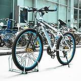 Femor Rastrelliera Portabici in Acciaio Scaffale Cavalletto per Biciclette 2 Posti