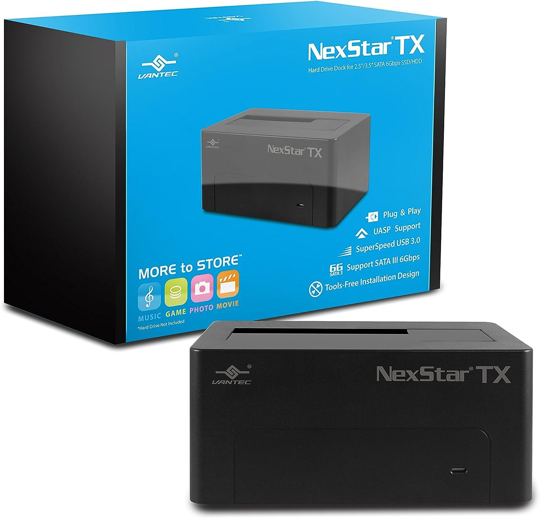 Vantec 8,9cm SATA 6Go/s pour boîtier de Disque Dur USB 3.1Gen II de Type A (Nst-370a31-bk) NexStar TX - 1 Baie USB 3.0 (Version Mise à Jour)