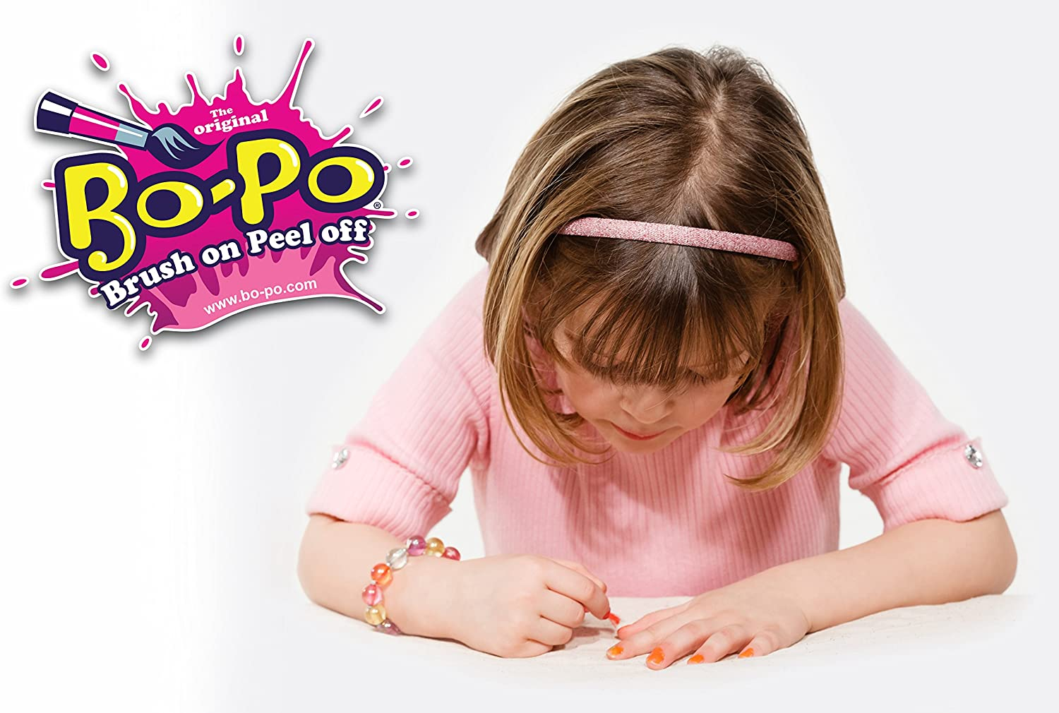 Kids New Bo-Po Nail Polish 8-Pack Colors May Vary Toddler Toy Gift Play Childs
