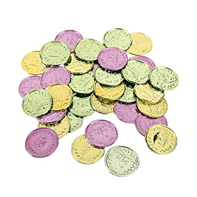 Fun Express - Mardi Gras Coins(4pbh=gr) for Mardi Gras - Toys - Value Toys - Play Money - Mardi Gras - 144 Pieces: Toys & Games