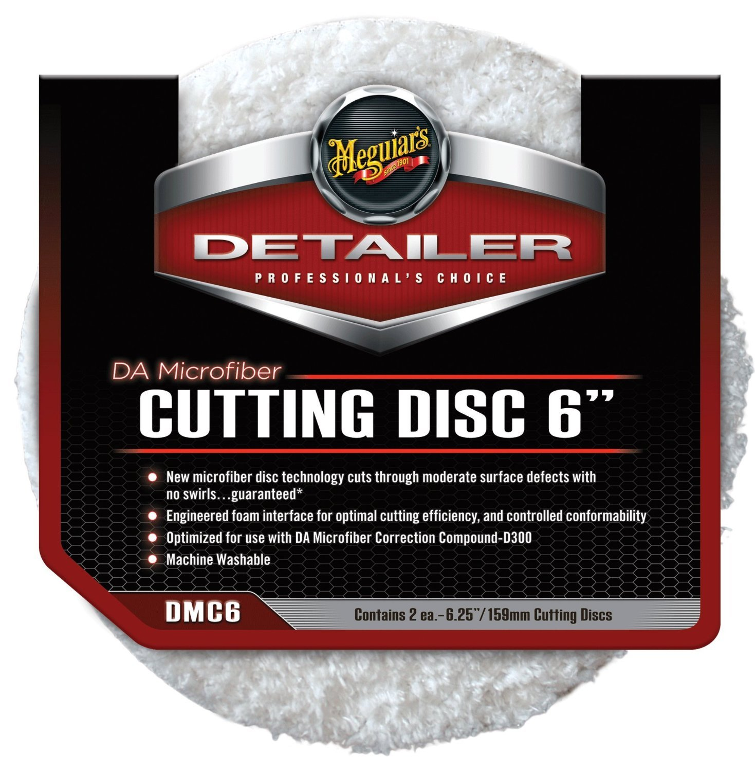 Meguiars 6' DA Microfibre Cutting Pads for use with G220 & Das 6 Dual Action Polisher