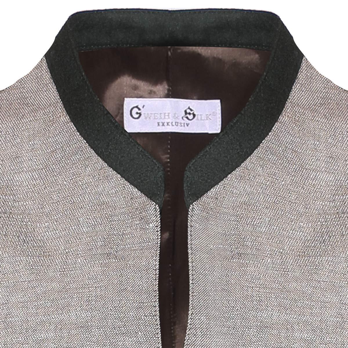 Gweih und Silk Herren Trachten-Mode Strickjacke Oliver in Grau traditionell
