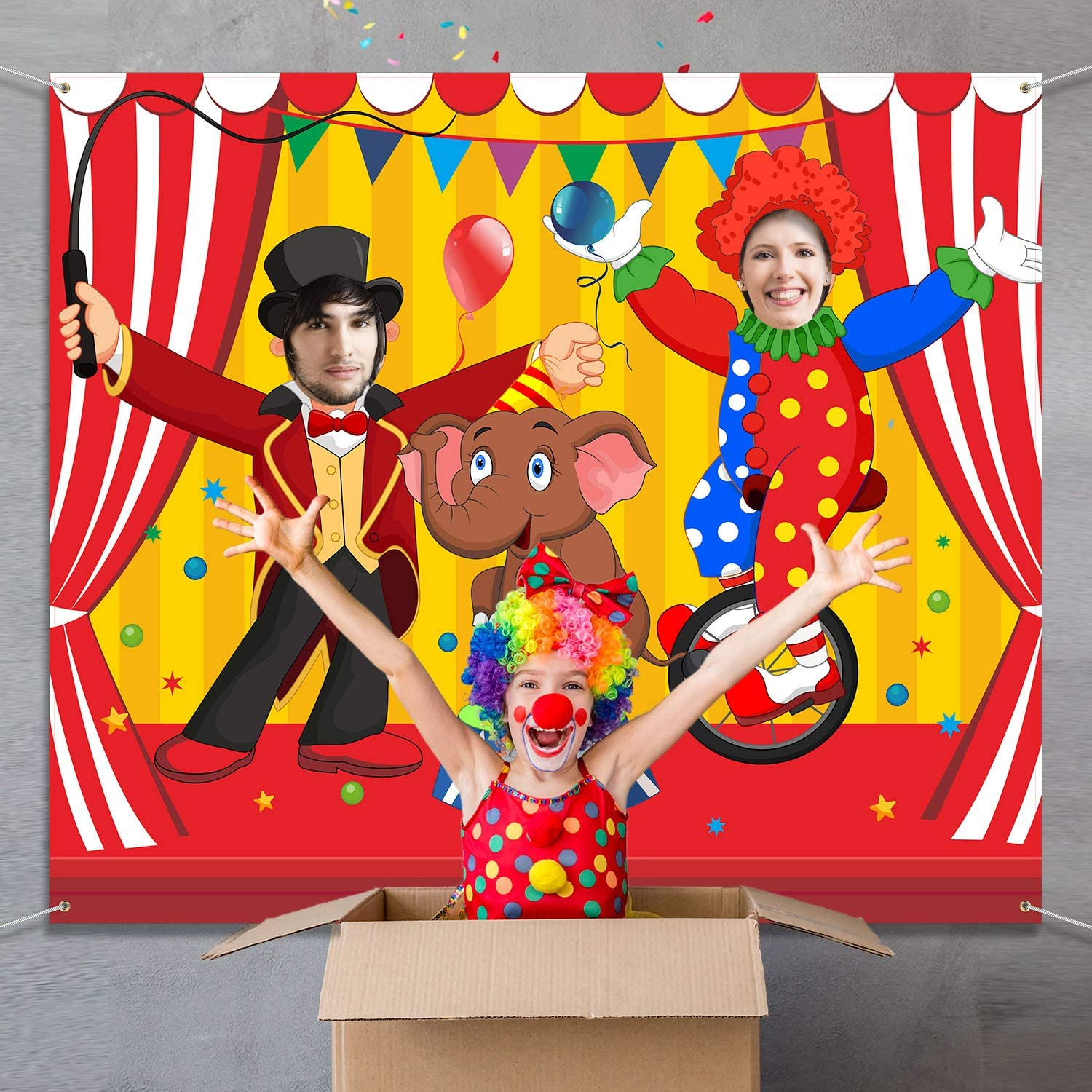 Carnival Circus Party Decoration Carnival Photo Door Banner ...