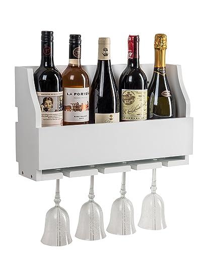 Lewiston para Botella de Vino y Cristal de Almacenamiento Rack