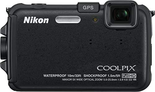 Nikon COOLPIX AW100 16 MP CMOS Waterproof Digital Camera with GPS and Full HD 1080p Video Black