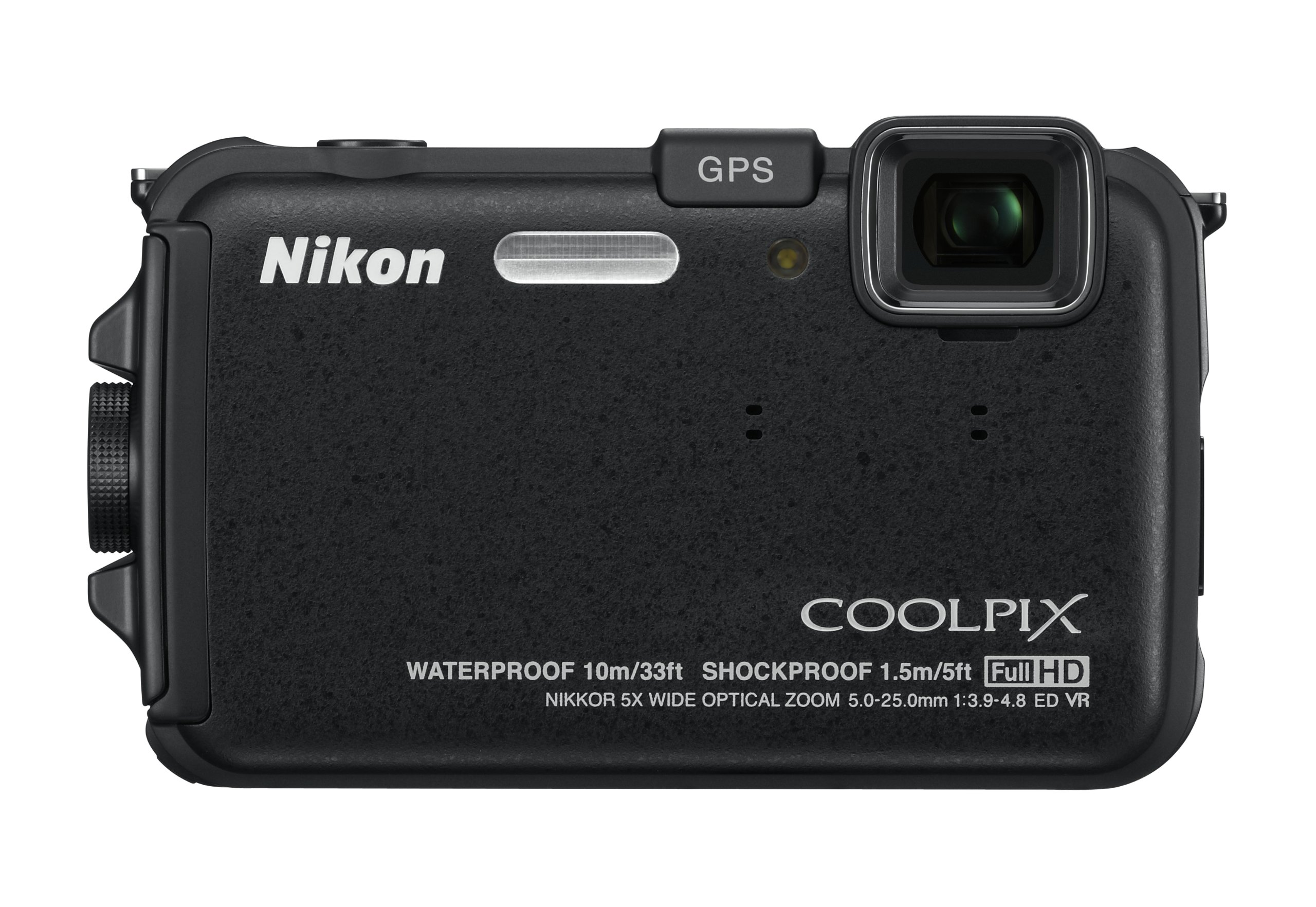 Nikon COOLPIX AW100 16 MP CMOS Waterproof Digital Camera with GPS and Full HD 1080p Video (Black) by Nikon