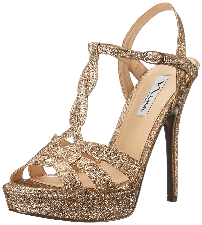 Nina Women's Marzia YF Platform Sandal B00VSCO1JA 10 B(M) US|Taupe